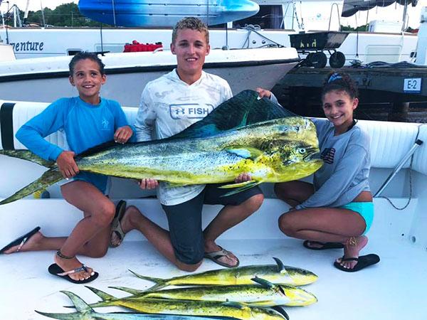 Children having a great day fishing